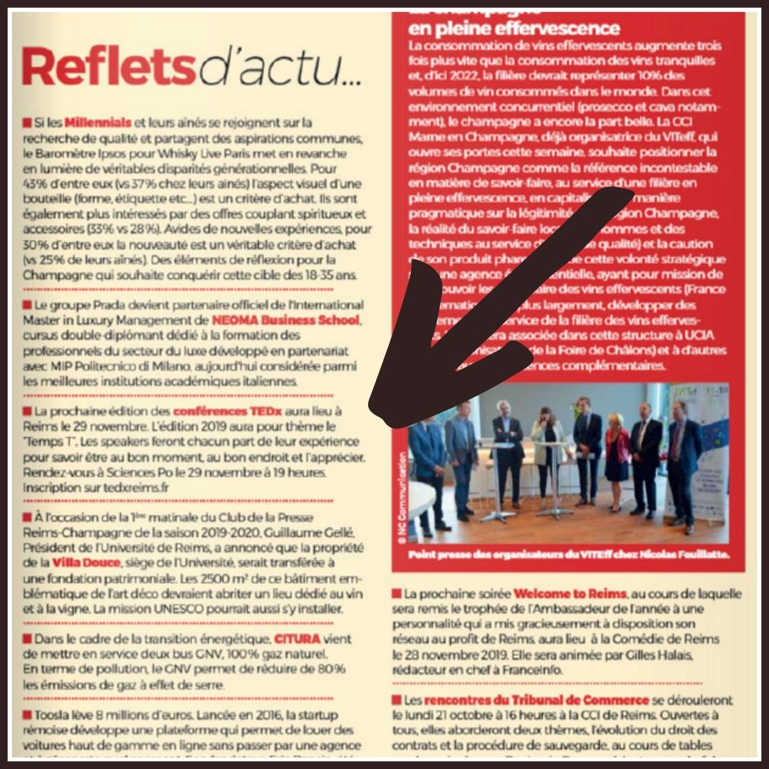"""L'article de Reflets Actuels sur l'édition TEDxReims 2019 """"Temps T"""""""